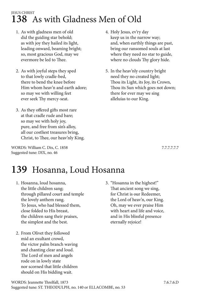 Hosanna, Loud Hosanna | Hymnary.org