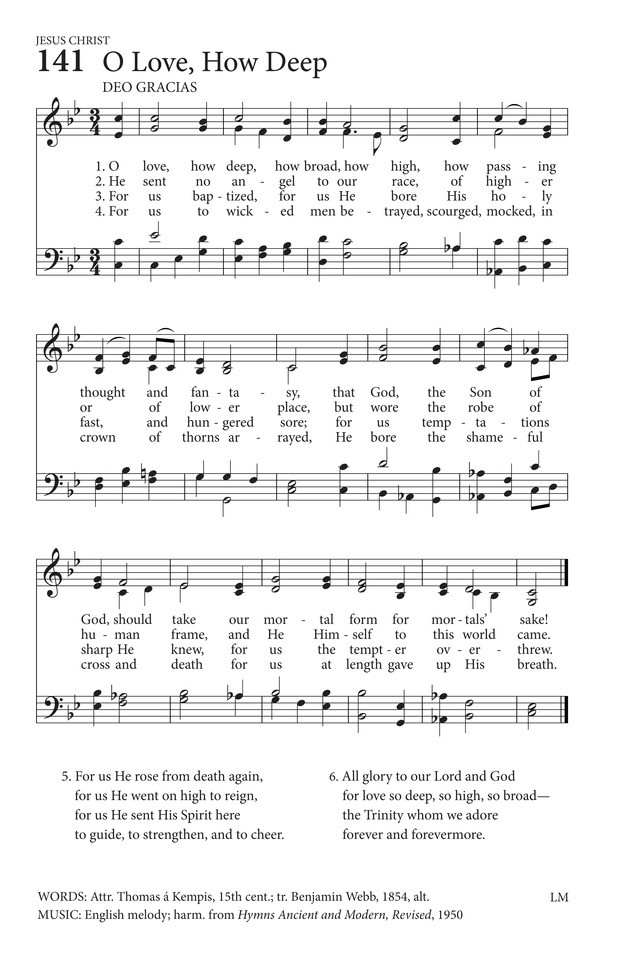 O Love, How Deep, How Broad, How High | Hymnary.org