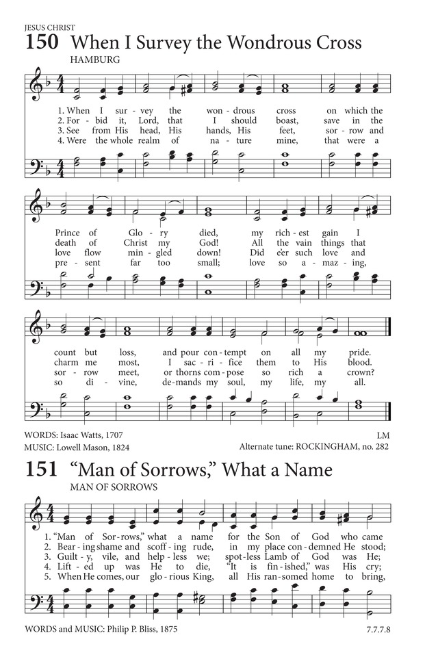 Man Of Sorrows What A Name Hymnary