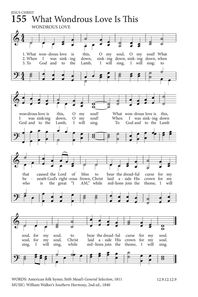 What Wondrous Love Is This Hymnary