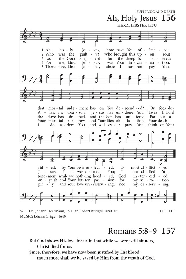 Lyric i will call upon the lord lyrics : Ah, holy Jesus, how hast thou offended | Hymnary.org