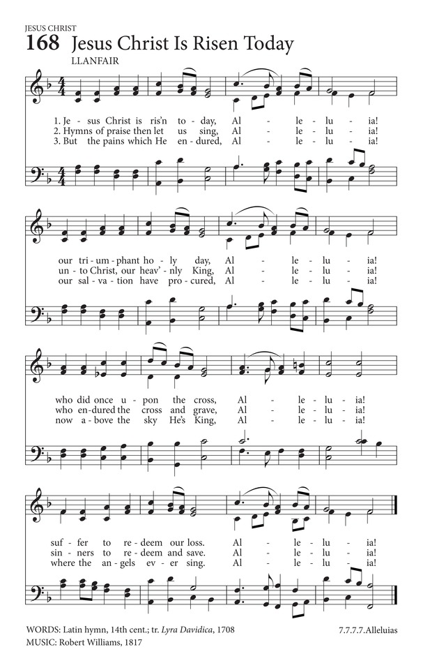 Jesus Christ Is Risen Today Hymnary