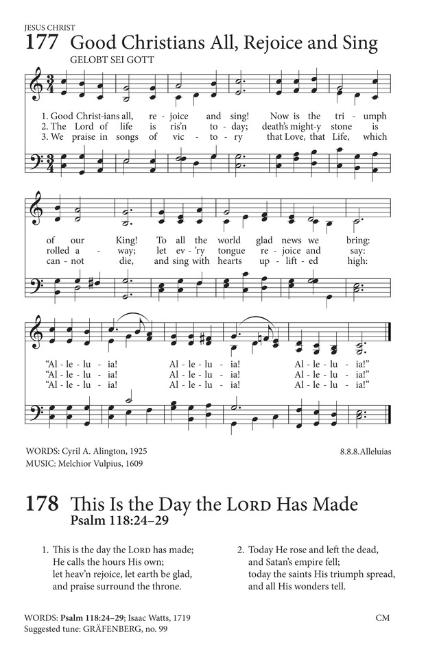 Good Christians All Rejoice And Sing Hymnary