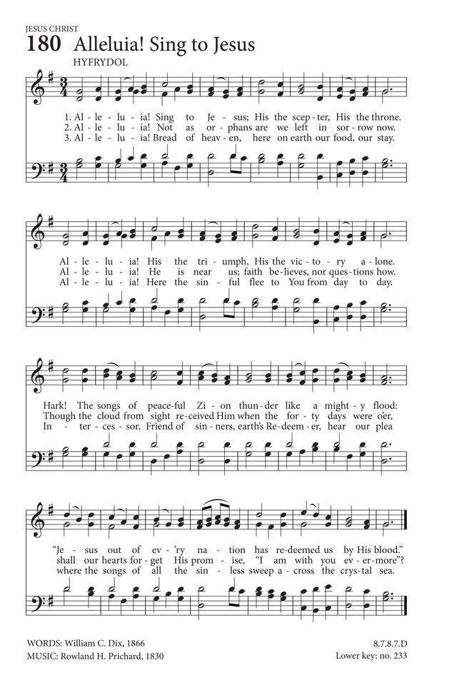 Alleluia Sing To Jesus Hymnary