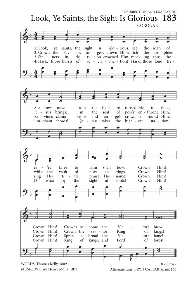 Look, ye saints; the sight is glorious | Hymnary.org