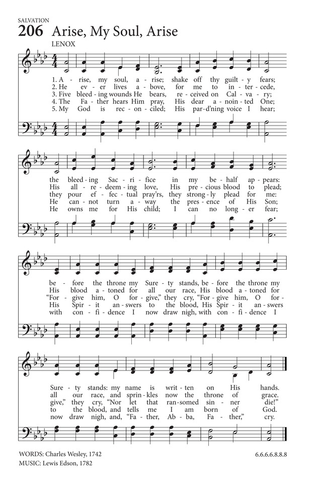 Hymns to the Living God page 167