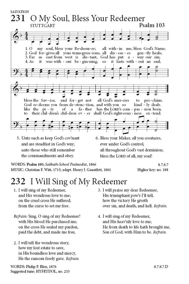 Lyric friend of god lyrics : I Will Sing Of My Redeemer | Hymnary.org