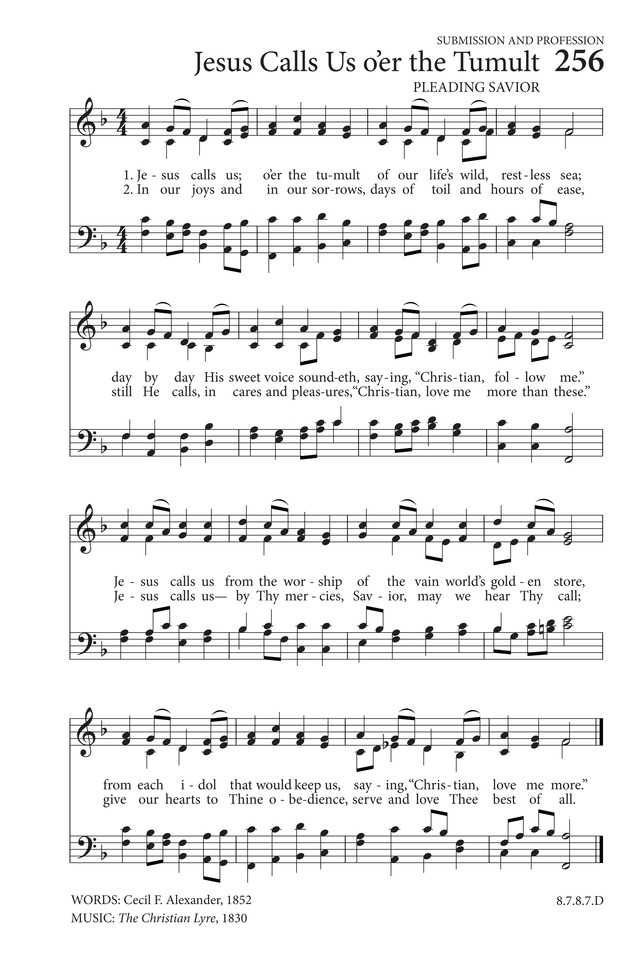 Jesus Calls Us Oer The Tumult Hymnary