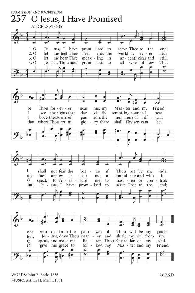 O Jesus, I have promised | Hymnary.org