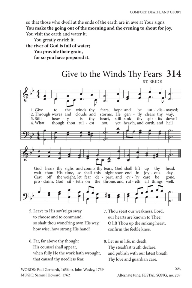 Lyric i choose the lord lyrics : Give to the Winds Thy Fears | Hymnary.org