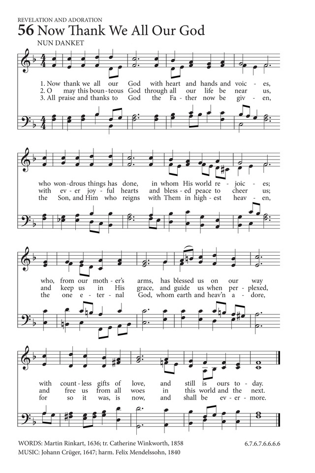 Now Thank We All Our God | Hymnary.org