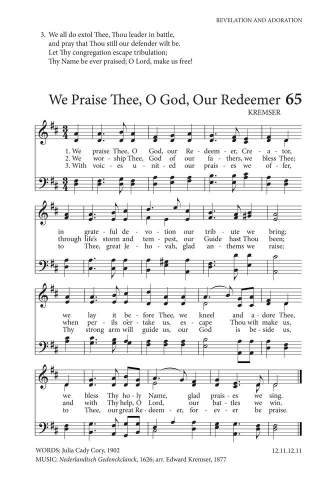 We Praise Thee, O God | Hymnary.org