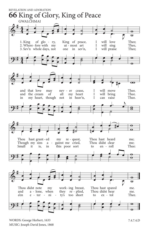 King Of Glory King Of Peace Hymnary