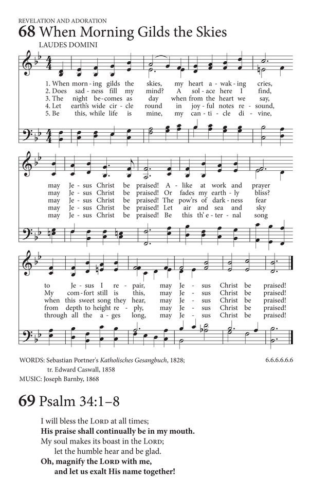 When Morning Gilds the Skies | Hymnary.org