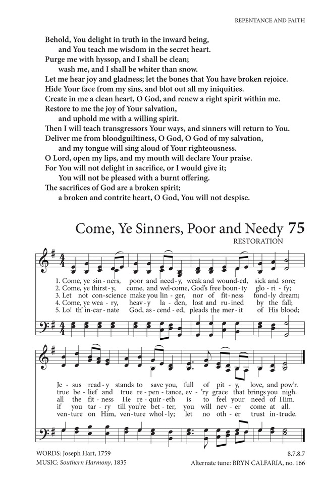 Come ye sinners poor and needy hymnary view page stopboris Image collections