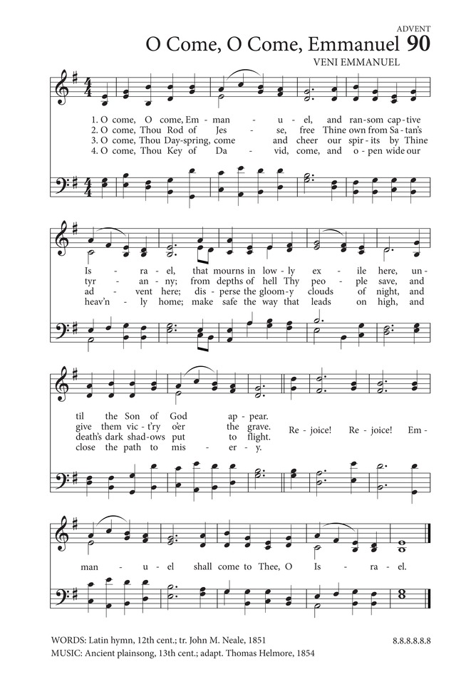 All Music Chords mary did you know sheet music free : O Come, O Come, Emmanuel | Hymnary.org