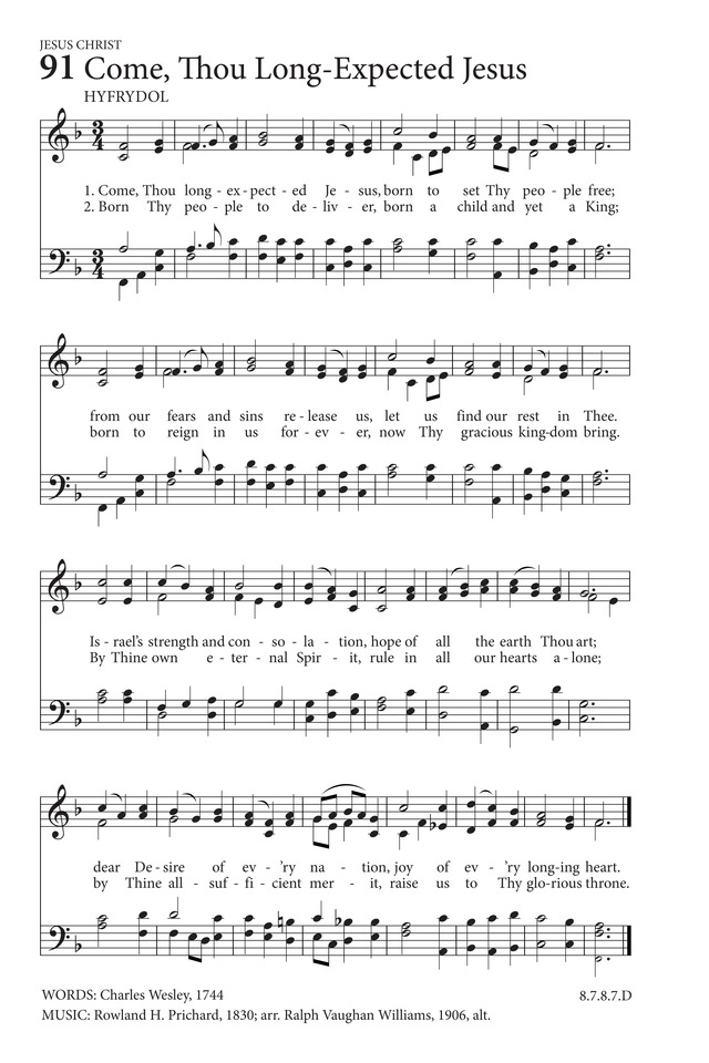 Come Thou Long Expected Jesus Hymnary