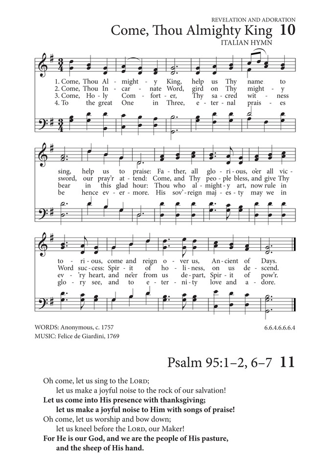 Come, Thou Almighty King | Hymnary.org