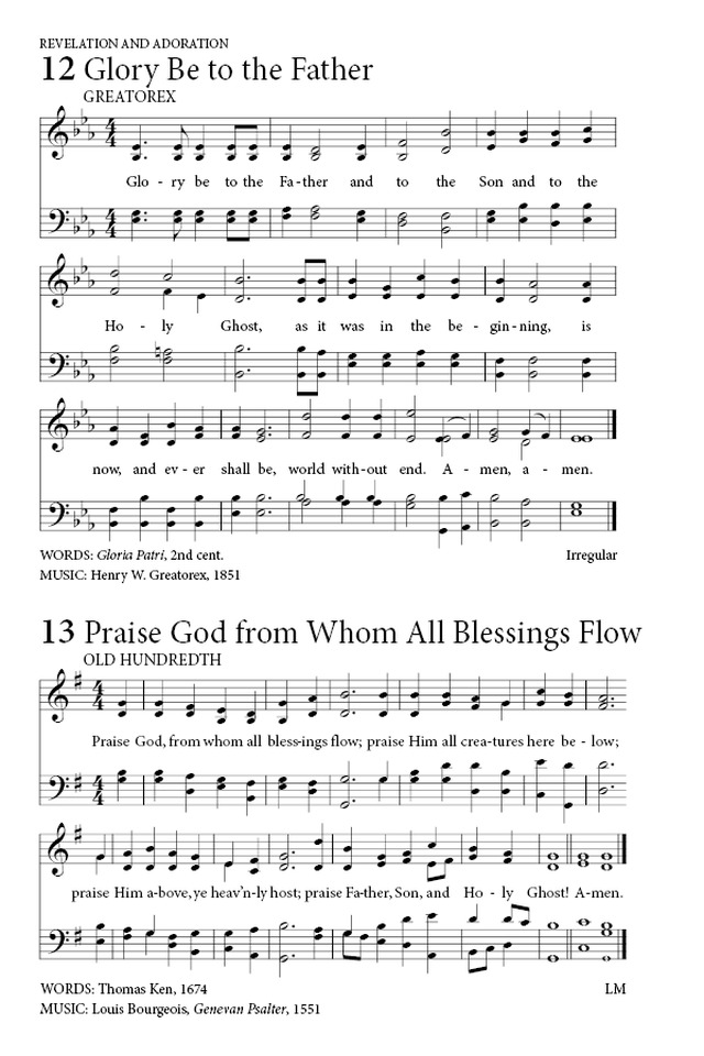 Praise God From Whom All Blessings Flow Hymnary