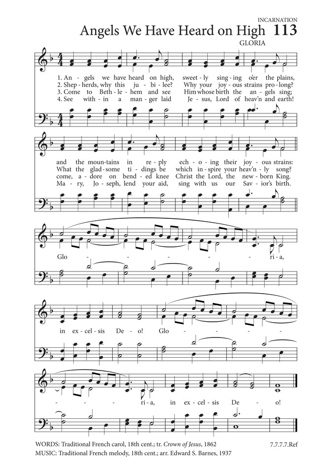 Angels We Have Heard on High | Hymnary.org