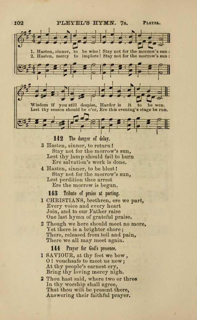 Hymns and Tunes for Prayer and Social Meetings page 102