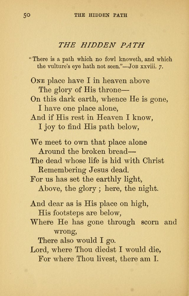 Hymns of Ter Steegen and Others (Second Series) page 50