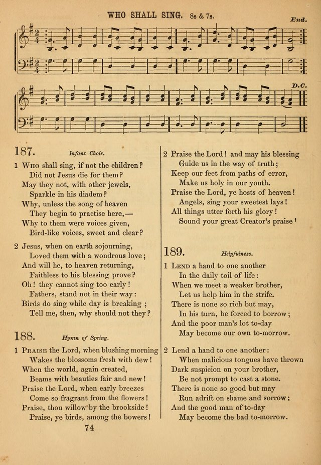 Hymn, Tune, and Service Book for Sunday Schools page 164
