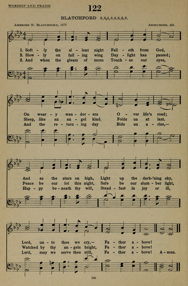 Hymns of the United Church page 106