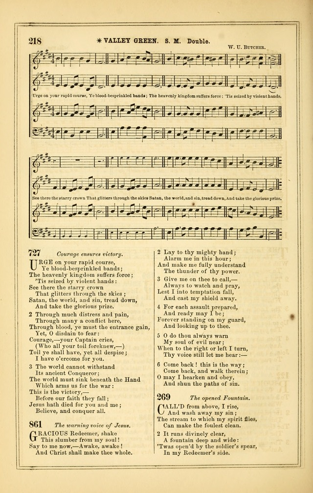 The Heart and Voice: or, Songs of Praise for the Sanctuary: hymn and tune book, designed for congregational singing in the Methodist Episcopal Church, and for congregations generally page 218