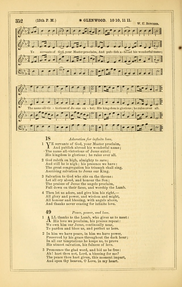 The Heart and Voice: or, Songs of Praise for the Sanctuary: hymn and tune book, designed for congregational singing in the Methodist Episcopal Church, and for congregations generally page 352