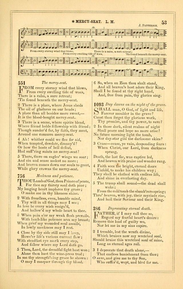 The Heart and Voice: or, Songs of Praise for the Sanctuary: hymn and tune book, designed for congregational singing in the Methodist Episcopal Church, and for congregations generally page 53