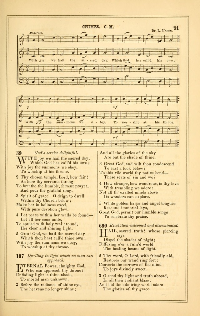 The Heart and Voice: or, Songs of Praise for the Sanctuary: hymn and tune book, designed for congregational singing in the Methodist Episcopal Church, and for congregations generally page 91