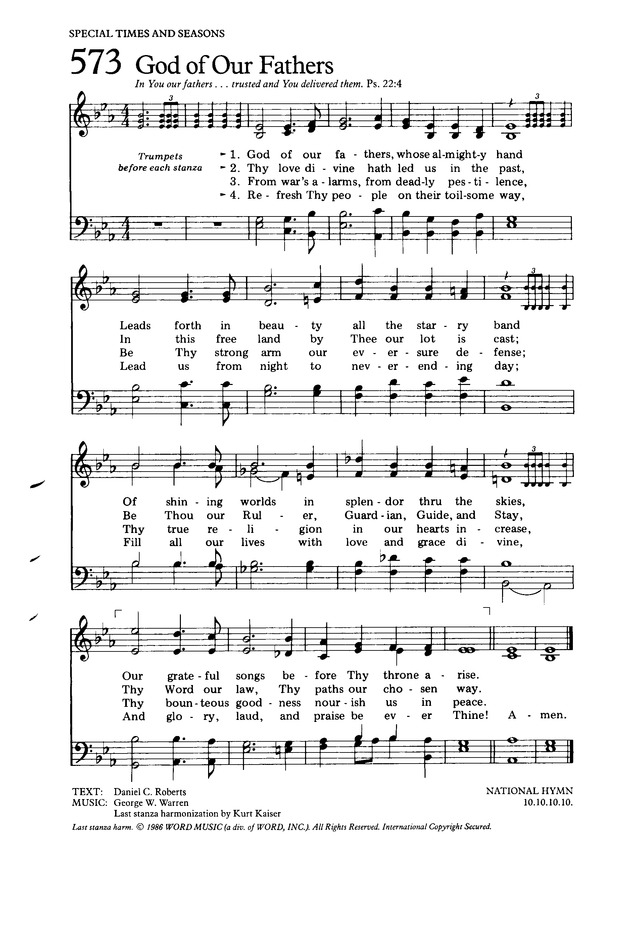 The hymnal for worship and celebration 573 god of our fathers god of our fathers thecheapjerseys Images