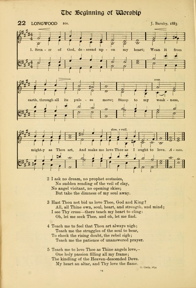 Hymns of Worship and Service (15th ed.) page 14