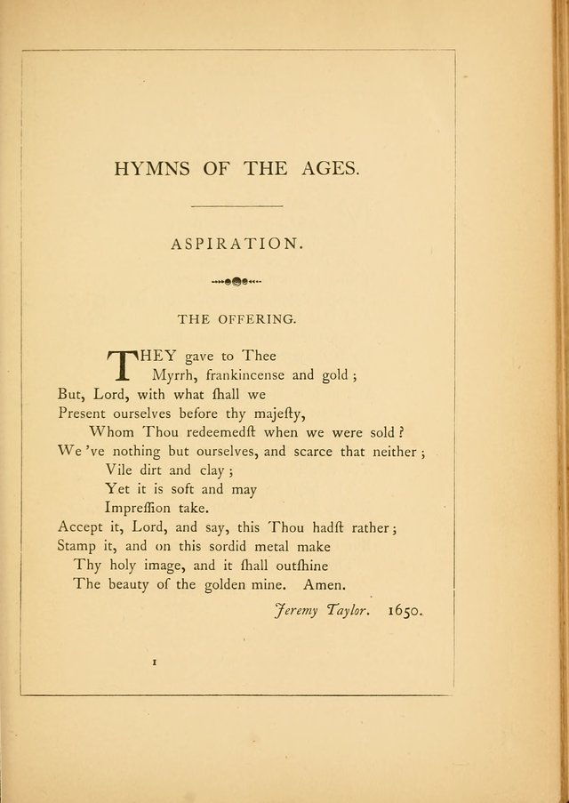 Hymns of the Ages: being selections from Wither, Cranshaw, Southwell, Habington, and other sources (2nd series) page 1