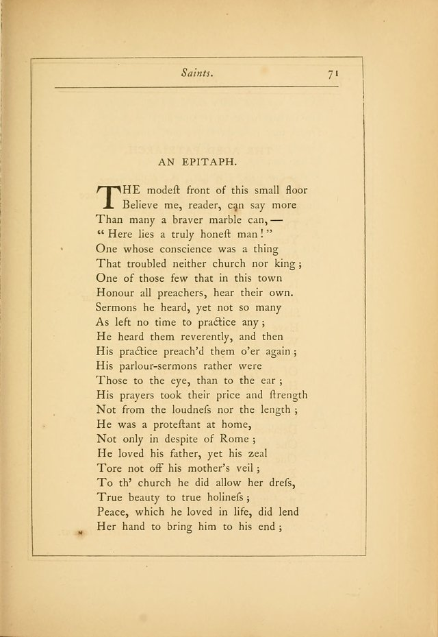 Hymns of the Ages: being selections from Wither, Cranshaw, Southwell, Habington, and other sources (2nd series) page 71