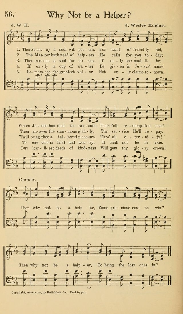 Hymns of the Kingdom: for use in religious meetings page 56