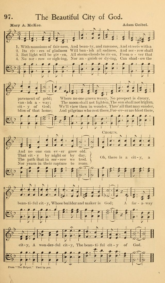 Hymns of the Kingdom: for use in religious meetings page 97