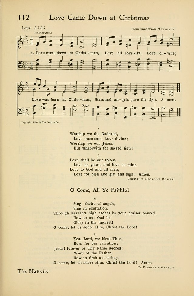 Love Came Down At Christmas.Hymns Of The Living Church 112 Love Came Down At Christmas