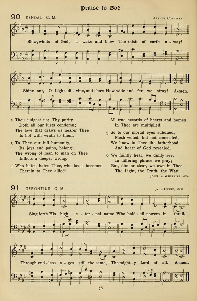 The Hymnal of Praise page 77
