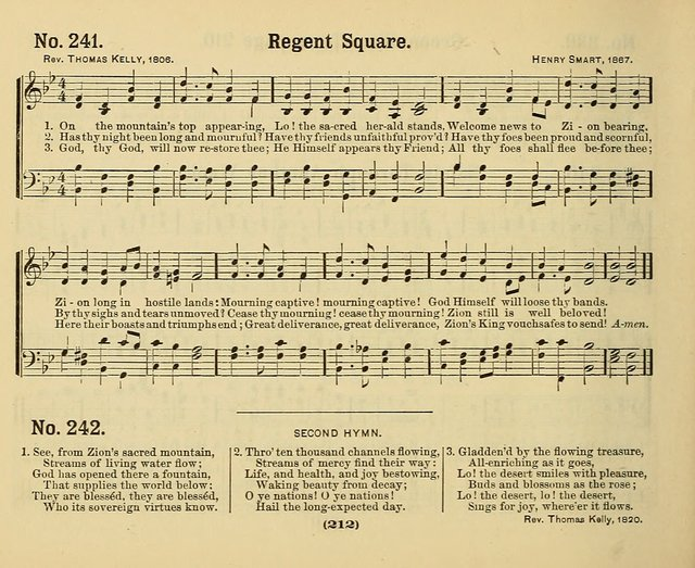 Hymns of Praise, with Tunes: selected for use in Sunday school, prayer meeting, and home circle page 212
