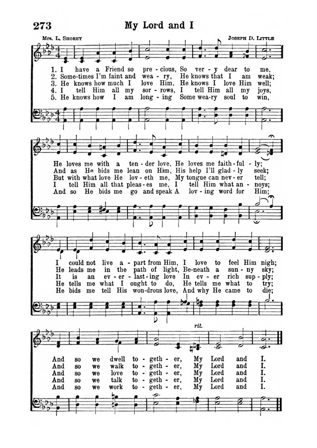 My Lord and I | Hymnary.org
