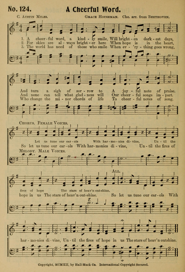 Ideal Sunday School Hymns page 124