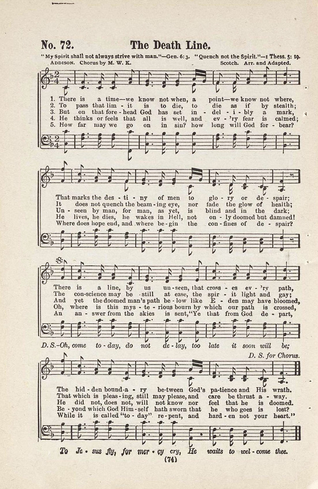 The Joy Bells of Canaan or Burning Bush Songs No. 2 page 72