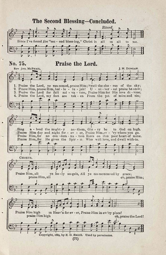The Joy Bells of Canaan or Burning Bush Songs No. 2 page 75