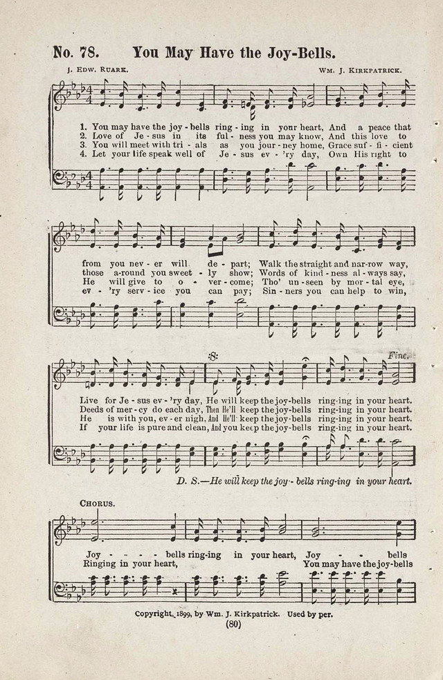 The Joy Bells of Canaan or Burning Bush Songs No. 2 page 78