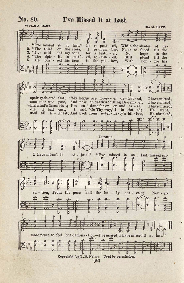 The Joy Bells of Canaan or Burning Bush Songs No. 2 page 80