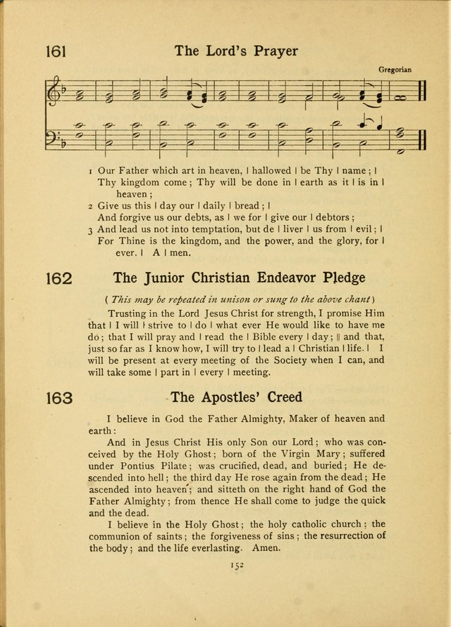 Junior Carols: a collection of sacred songs for Junior Societies, Sunday Schools, the Home Circle page 152