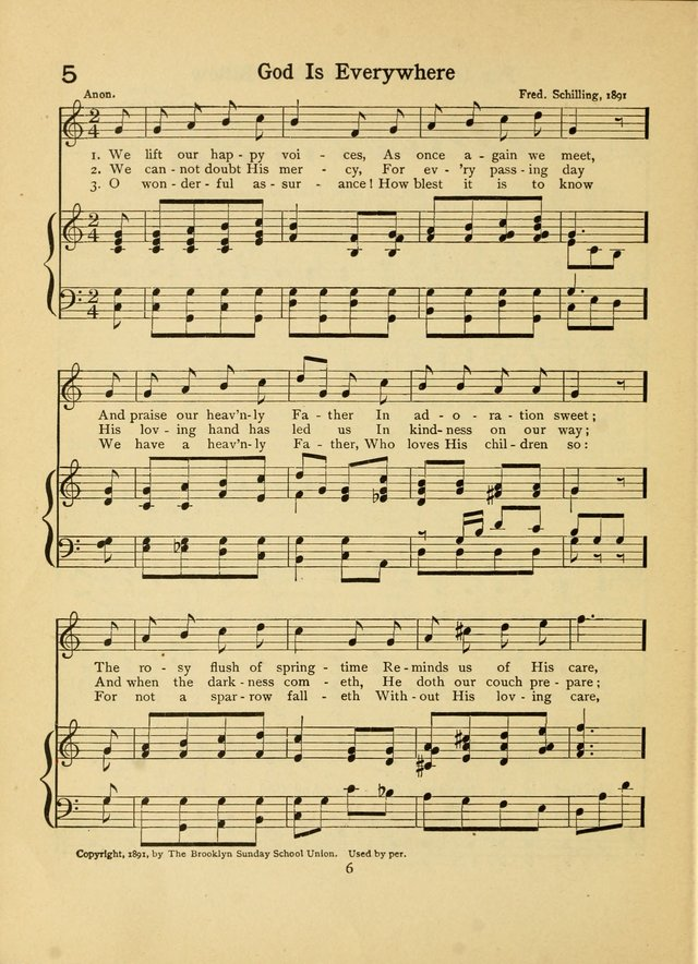 Junior Carols: a collection of sacred songs for Junior Societies, Sunday Schools, the Home Circle page 6