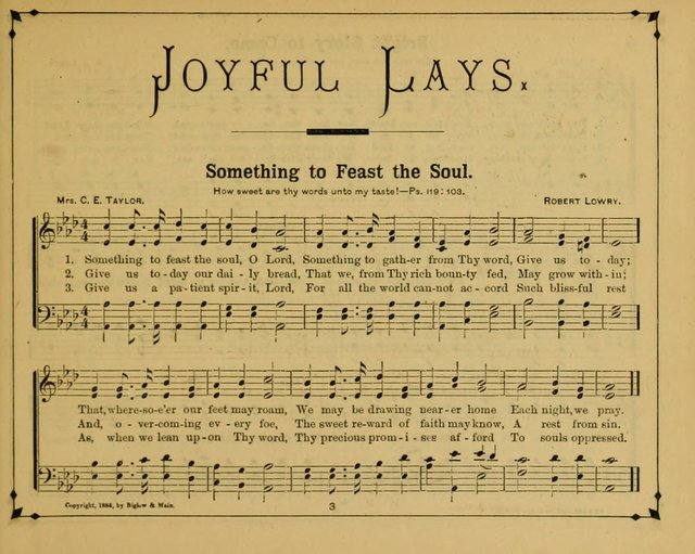 Joyful Lays: a new collection of songs, prepared and adapted for the Sunday School page 8